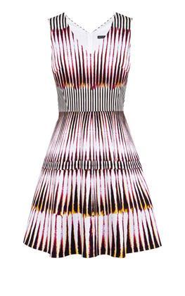 Платье с графическим принтом Карен Миллен (Karen Millen)