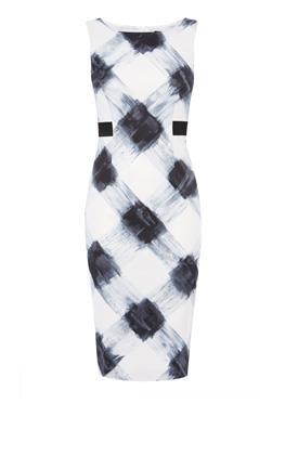 Платье стрейч с принтом Карен Миллен (Karen Millen)