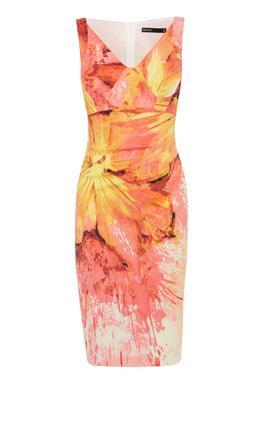 Платье с  цветочным принтом Карен Миллен (Karen Millen)