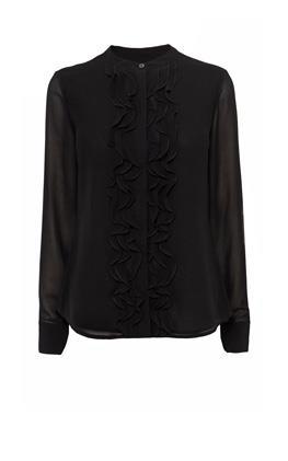 Прозрачная блузка с оборкой Карен Миллен (Karen Millen)