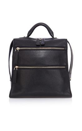 Кожаный рюкзак с молнией Карен Миллен (Karen Millen)