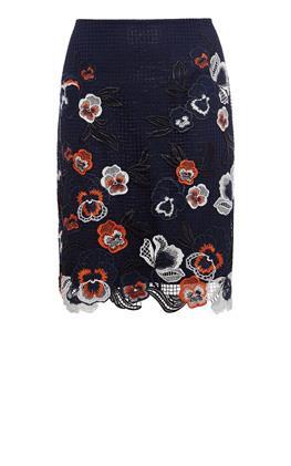 Юбка с вышивкой цветами Карен Миллен (Karen Millen)