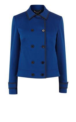 Двубортная куртка с отделкой Карен Миллен (Karen Millen)