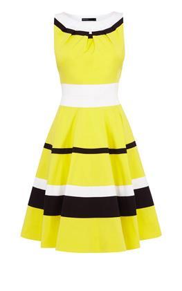 Платье с цветовыми блоками Карен Миллен (Karen Millen)