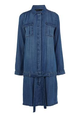 Платье-рубашка из денима Карен Миллен (Karen Millen)