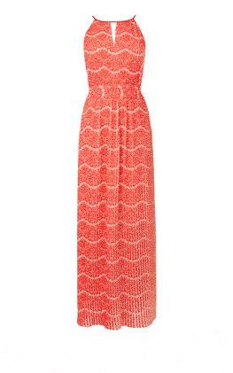 Плиссированное платье-макси Карен Миллен (Karen Millen)