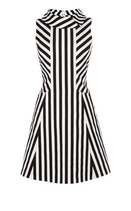 Платье в полоску с блоками Карен Миллен (Karen Millen)