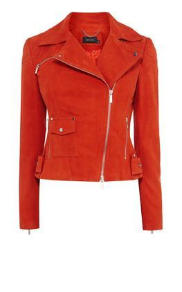 Замшевая байкерская куртка Карен Миллен (Karen Millen)