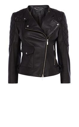 Черная байкерская куртка Карен Миллен (Karen Millen)