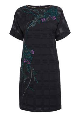 Платье-футболка с вышивкой Карен Миллен (Karen Millen)