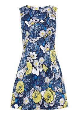Платье мини с принтом Карен Миллен (Karen Millen)